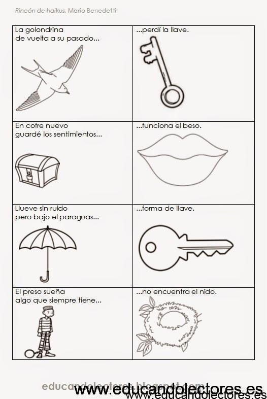 Juego con los haikus de Benedetti – Educando Lectores